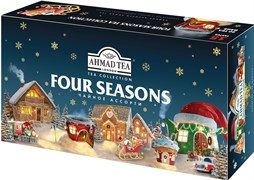 """Чайное Ассорти ""Ahmad Tea"" Four Seasons"" набор, пакетики в конвертах из фольги, 15 вкусов, (90 пакетиков) в ""зимнем"" дизайне"