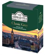 """Чай """"Ahmad Tea"""", Классик Грей, чёрный, с ароматом бергамота, в пакетиках  с ярлычками, 100х1,9г"""