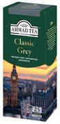 """Чай """"Ahmad Tea"""", Классик Грей, чёрный, с ароматом бергамота, в пакетиках  с ярлычками, 25х1,9г"""