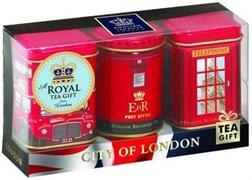 """Чай """"Ahmad Tea"""", Набор """"Лондон"""", листовой чай, 3 вкуса в сувенирных металлических банках, 3х25г"""