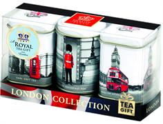 """Чай """"Ahmad Tea"""", Набор """"Виды Лондона"""", 3 вкуса листового чая в металлических банках, 3х25г"""