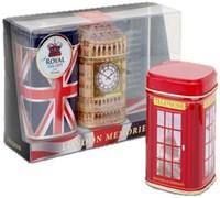 """Чай """"Ahmad Tea"""", Набор """"Воспоминания о Лондоне"""", листовой чай, 3 вкуса в металлических банках, 2х50г и 40г"""