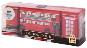 """Чай """"Ahmad Tea"""", Набор """"Тур по Лондону"""", два вкуса листового чая, плюс пакетики в конвертах, в жестяных баночках, 2х25г, 14х2г"""