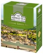 """Чай """"Ahmad Tea"""" Зелёный чай с жасмином, в пакетиках с ярлычками в конвертах из фольги,100х2г"""