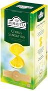 """Чай """"Ahmad Tea"""" Цитрус Сенсейшн, с ароматом лимона и лайма, чёрный, в пакетиках в конвертах из фольги, 25х1,8г"""