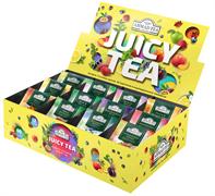 """""""Чайное Ассорти Ahmad Tea Джуси Ти"""" набор, пакетики в конвертах из фольги, 12 фруктово-ягодных вкусов, (60 пакетиков)"""