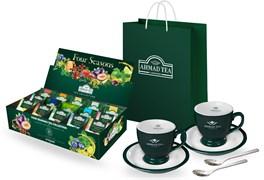 """Подарочный набор чая и посуды от """"Ahmad Tea"""" """"Four Seasons"""""""