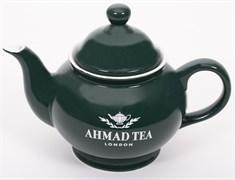 """Чайник заварочный """"Ahmad Tea"""", зелёный, керамический, 400 мл"""