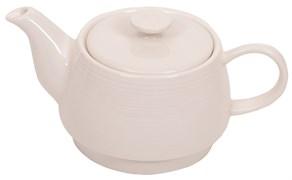 """Чайник заварочный """"Ahmad Tea"""", белый, керамический, 350 мл"""