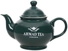 """Чайник заварочный """"Ahmad Tea"""" с фильтром, зелёный, керамический, 850 мл"""