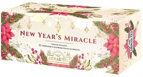 """Чайное Ассорти Ahmad Tea """"Новогоднее Чудо"""", пакетики в индивидуальных конвертах, 3 вкуса, (30 пакетиков)"""